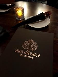 Thai District Menu