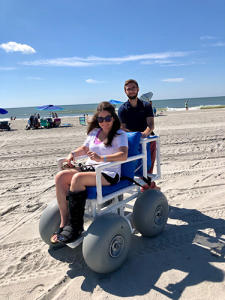 Beach Wheelchair on the beach