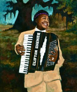Clifton Chenier (1985) by George Rodrigue