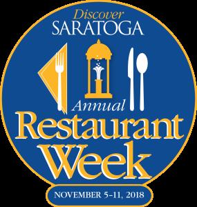 2018 Discover Saratoga Annual Restaurant Week Logo