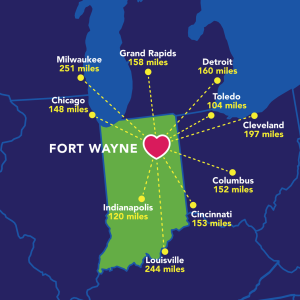 Map Fort Wayne Indiana Tour Planners | Visit Fort Wayne