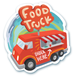 Visit Austin Food Trucks Sticker