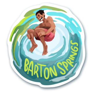 Visit Austin Barton Springs Pool Sticker
