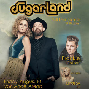 Sugarland Returns to the Stage with Still the Same 2018 Tour Coming to SMG-managed Van Andel Arena® August 10