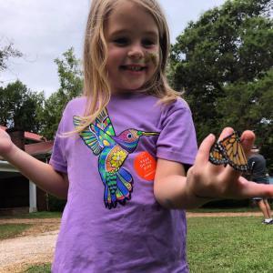 child butterfly Pascagoula River Audubon Center