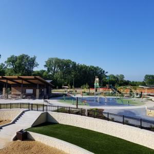 Splash pad at Firemen's Park