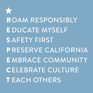Visit California RESPECT graphic