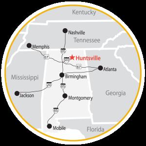 Getting to Huntsville, AL