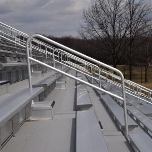 Traction finished bleachers