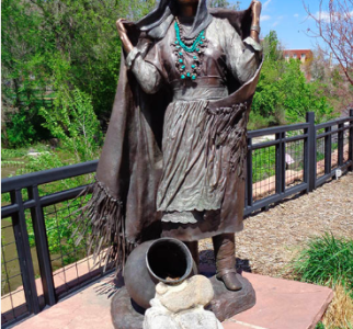 Statue along Clear Creek