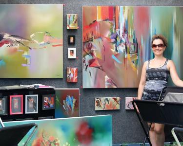 Art in Speed Park painter