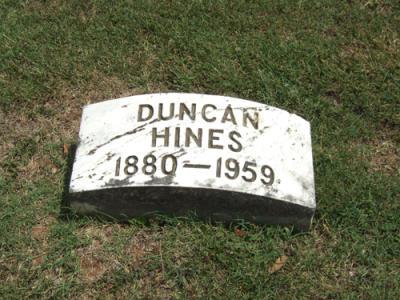 Duncan Hines Gravestone