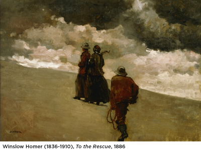 Winslow Homer Painting with Caption