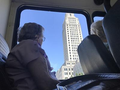 Lady observing Capitol