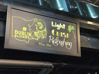 Dublin Blonde Sign at RAM Brewery
