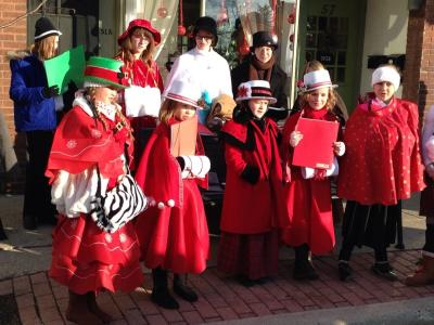 Christmas on the Square caroling