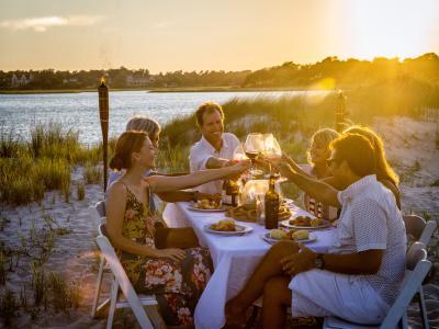 Island Dinner at Sunset