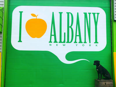 I Apple Albany Mural