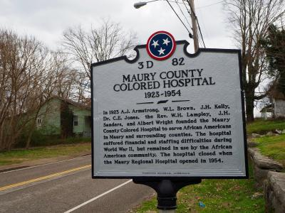 Colored Hospital Marker