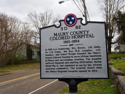 Colored Hospital Marker