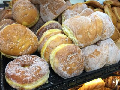 Various pastries and bread, baked goods at Panaderia
