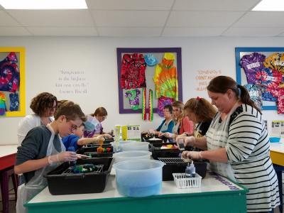 The Tie Dye Lab, tie dye process