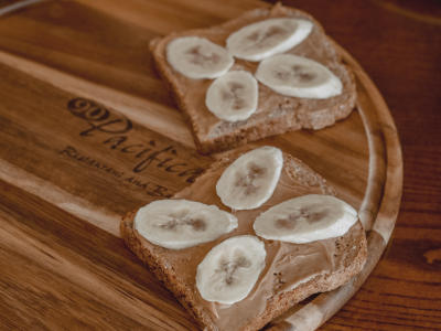 DoubleTree Irvine Spectrum 90 Pacific Peanut Butter Banana Toast