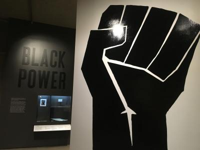 Black Panther Fist at Exhibit at OMCA