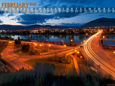 February 2015 Kamloops Desktop Calendar