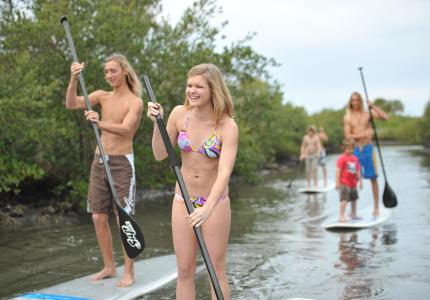 Paddle boarding sup