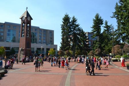 Crowd at Esther Short Park