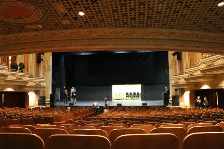 The guest view at the newly renovated Pantages Theater in Tacoma Washington