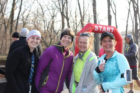 Runners having fun at the Tomahawk Trail Run!