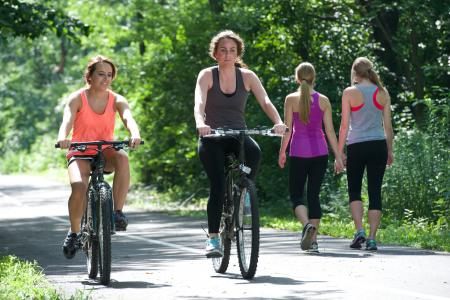 Walk, jog, or bicycle along the B&O Trail in Brownsburg