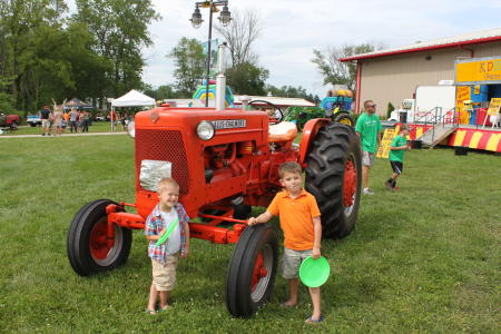 Hendricks County 4-H Fair kids with tractor