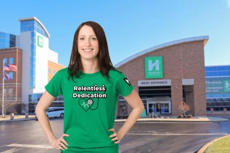 Hendricks Regional Health Foundation's Relentless Dedication T-Shirts (Photo courtesy of the Hendricks Regional Health Twitter page)