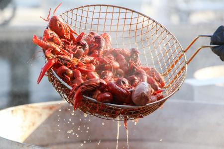 Crawfish in A Basket