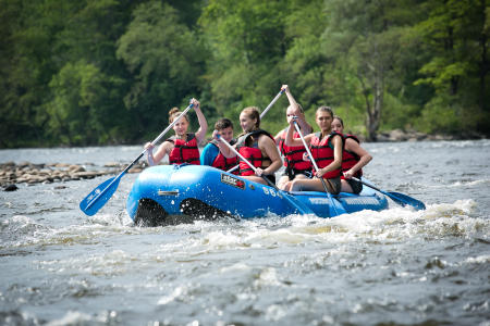 Go Whitewater Rafting in the Pocono Mountains