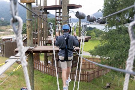 Vista Lago Adventure Park ropes course
