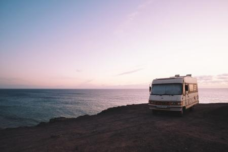 RV in El Cotillo Beach, La Oliva, Spain