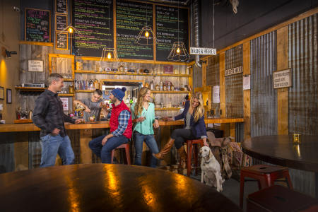 Diners enjoy libations and Steamboat Whiskey Company