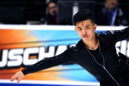 Jimmy Ma ice skating
