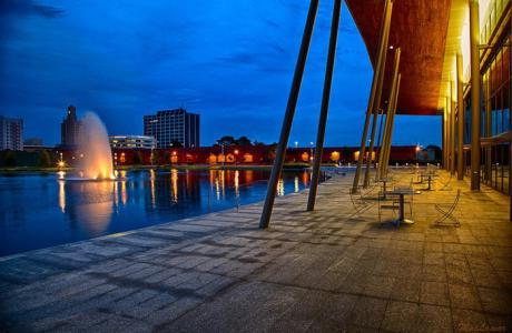 The Event Centre Patio at Night