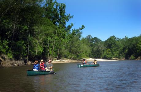 Paddling the Neches River