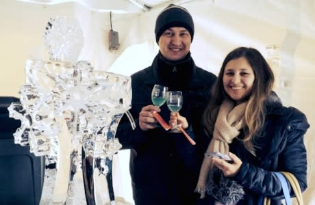 Ice Sculputure at the New York State Ice Wine & Culinary Festival