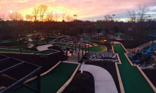Englewood Fun Center Mini Golf Course Aerial View In Dayton, Ohio