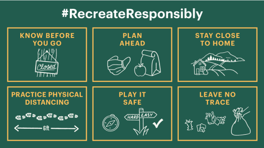 #RecreateResponsibly guidelines