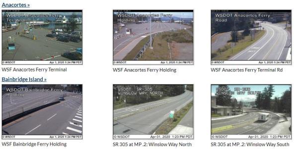 Washington State Ferry Live Webcams