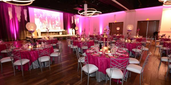Ballroom setup at the Exchange at Bridge Park