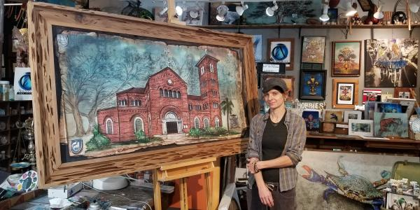 Candice Alexander church painting